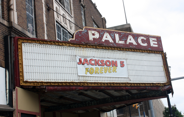 Palace Theatre, Gary, IN - marquee
