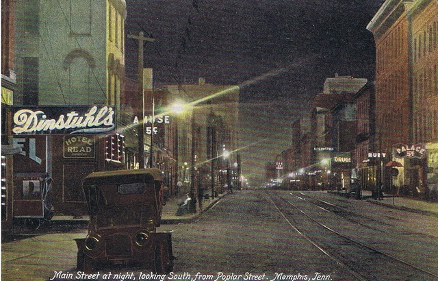 Post card of Main and Washington circa 1907-8