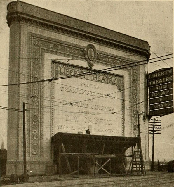 Liberty Theatre Under Construction, East Liberty, PIttsburgh, Pennsylvania, 1915