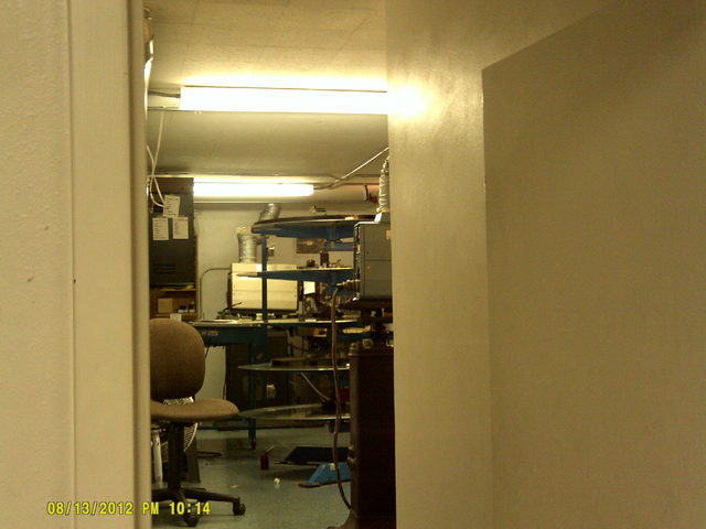 Lower level projection booth