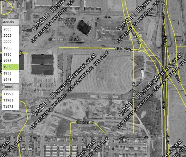 1959 Aerial Photo of Drive-In location