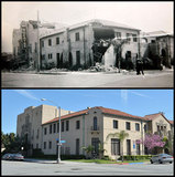 Ebell after Long Beach earthquake and modern day