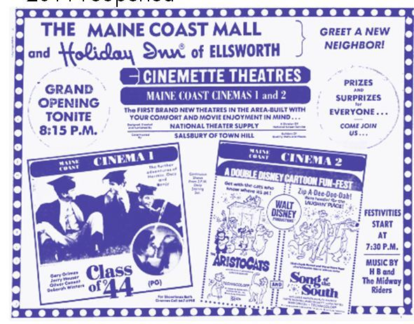Maine Coast Cinema 1-2