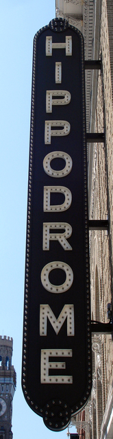 Hippodrome, Baltimore, MD - vertical sign