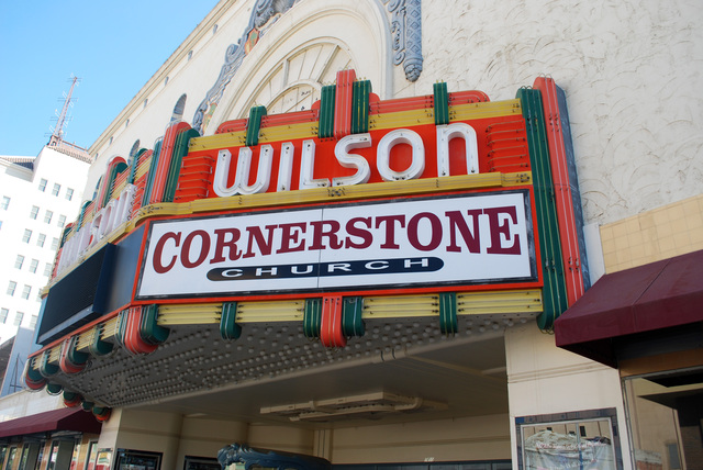 Wilson Theatre Marquee Side