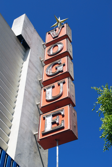 Vogue Theatre Sign