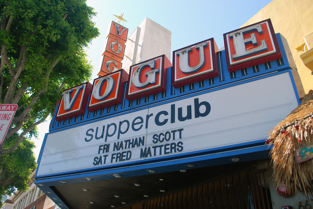 Vogue Theatre Marquee