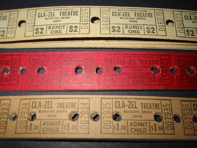 CLA-ZEL Theatre tickets, Bowling Green, Ohio.