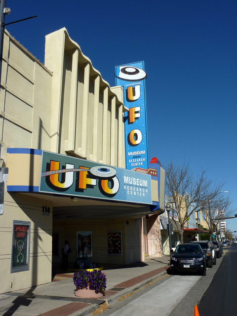 "Plains Theatre - November 2011, now the ""International UFO Museum and Research Center"""