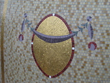 Mosaic domes Detail of gold mosaic medallion