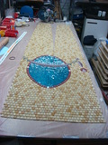 Mosaic Domes making in studio