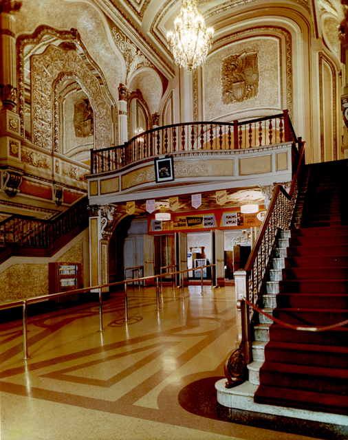 The ornate lobby of the Orpheum (circa 1960-62)
