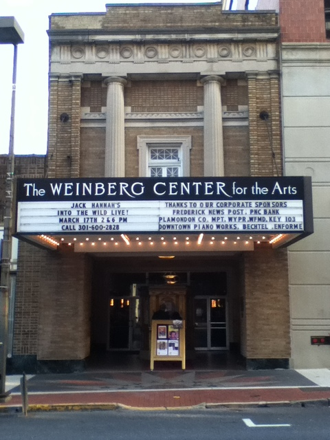 weinberg center for the arts in frederick md cinema