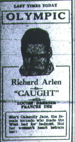 Ad from Daily Press in 1931