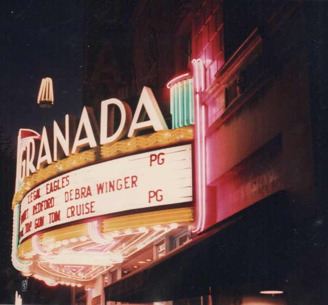 Night Side View of Moderne Marquee