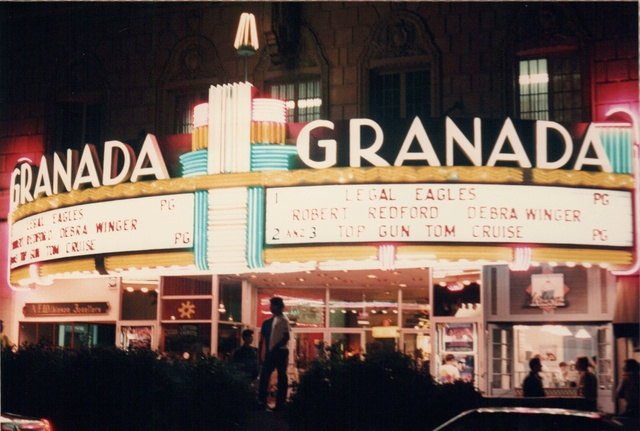 Night View of front of Moderne Marquee