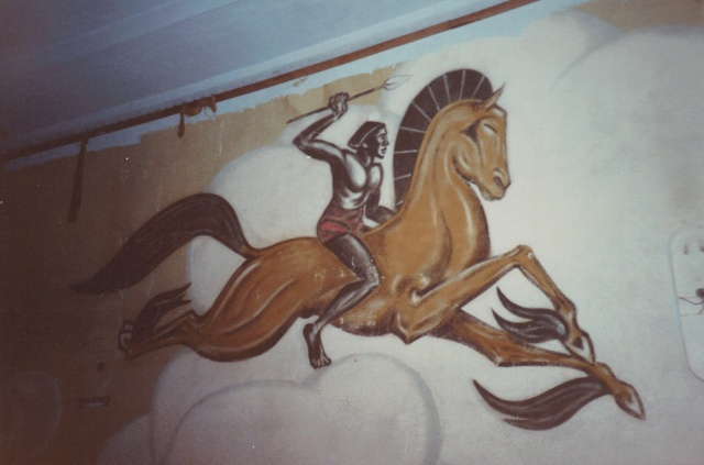 Auditorium Mural detail, taken May, 1990.