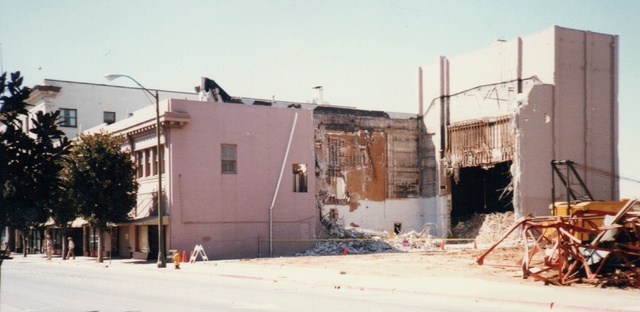 Panorama of State Building During Demolition