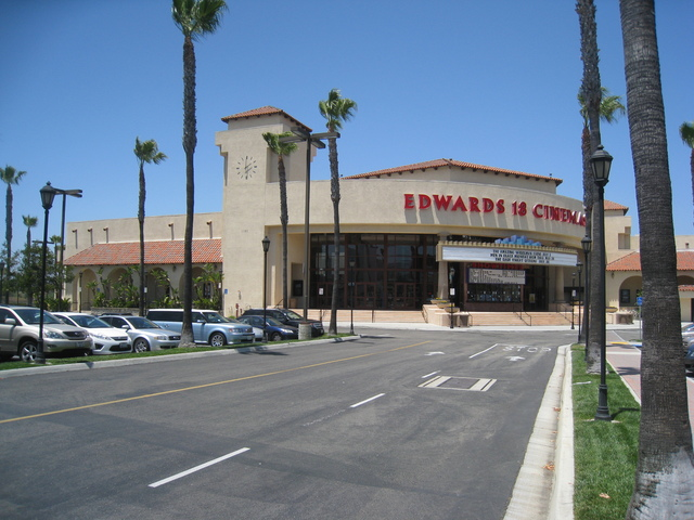 Wide shot of the Edwards Theater