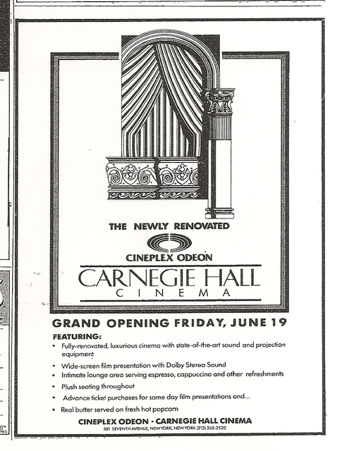 Carnegie Hall Cinema