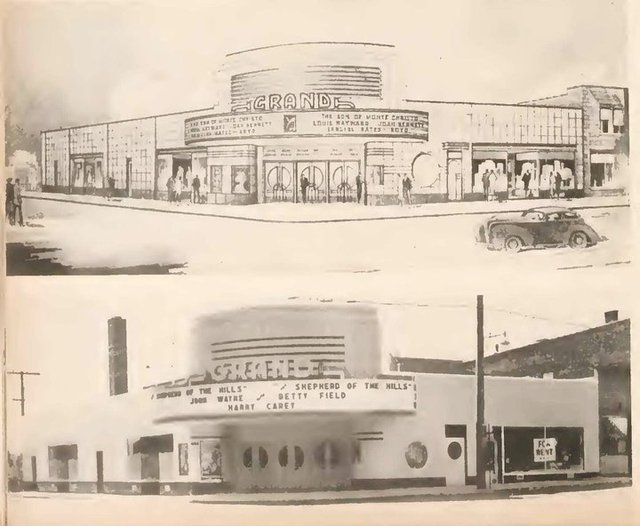 Grand Theatre early artist concept photo & completed design