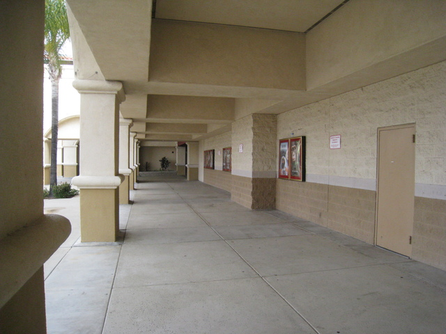 Walkway to the main entrance