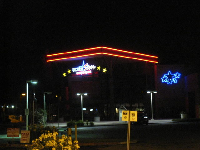 Night shot of the theater