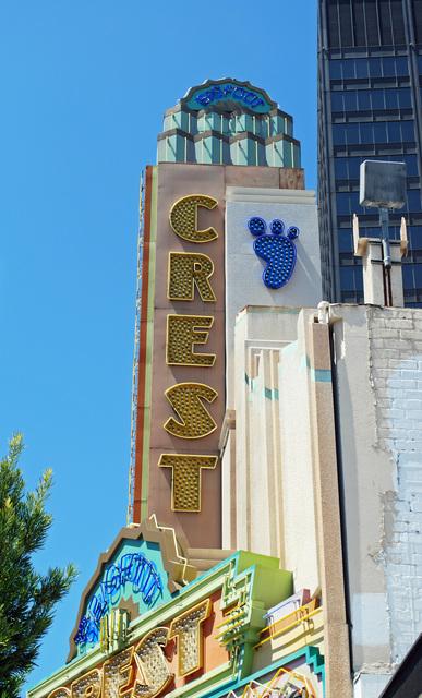 Crest Theatre Sign