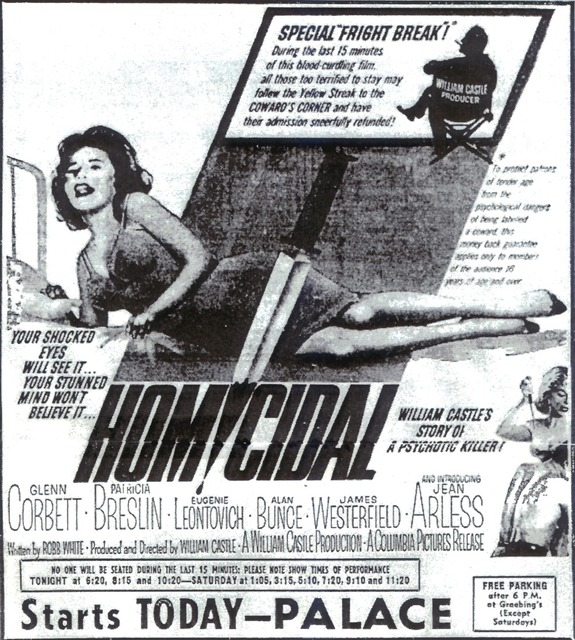 "William Castle's ""Homicidal"" World Premiere"