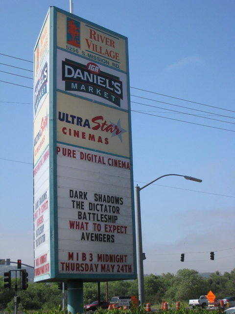 Northwest face of the sign and marquee