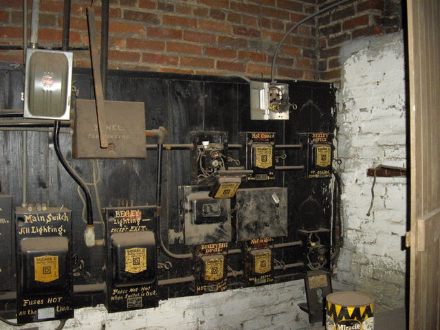 Original Bexley Theater power panels (in 2010)