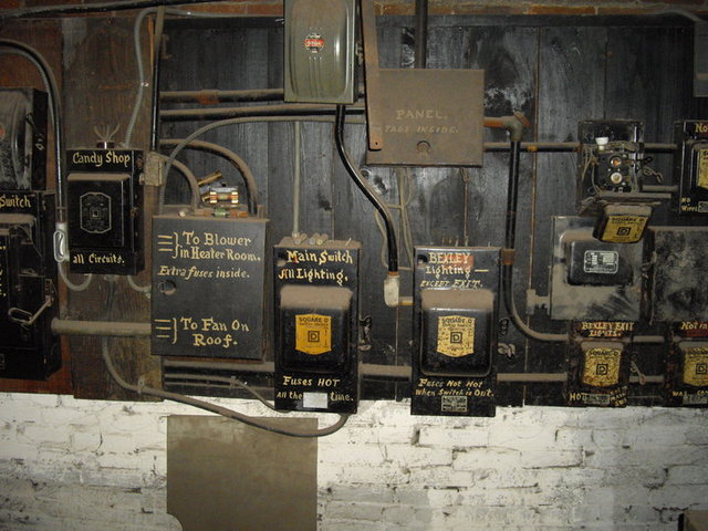 Old Bexley Theater Power Panels #2 (from 2010)