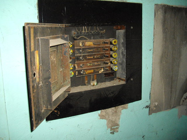Old Projection Booth Fuse Panel (2011)