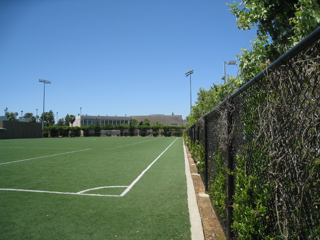 School's soccer field.