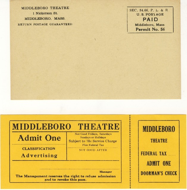 MIDDLEBORO Theatre, Middleborough, Massachusetts