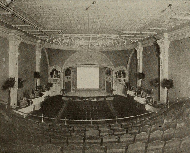 Stage, Bijou Theatre, Springfield, Massachusetts, 1910