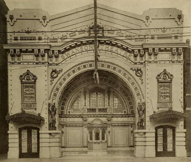 Facade, Swanson Theatre, Chicago, 1909