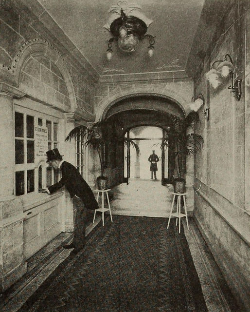 Lobby, Cinema House, London, 1910