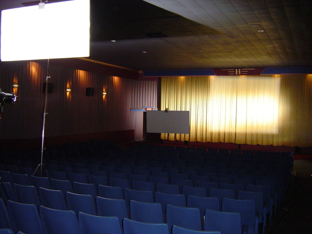 Filming at the Cinema