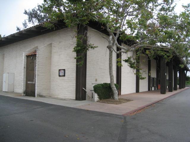 The northwest corner of the building.