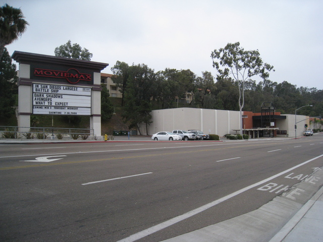Moviemax theater and marquee