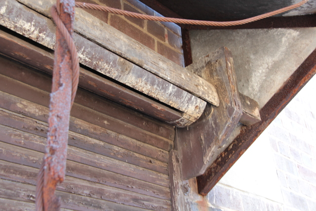 Enfield 'Savoy' - detail roller shutter #2 - April 2012