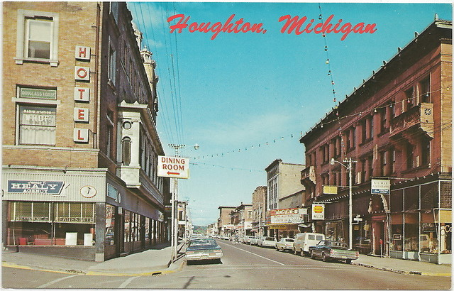 Postcard view, LODE Theatre; Houghton, Michigan.