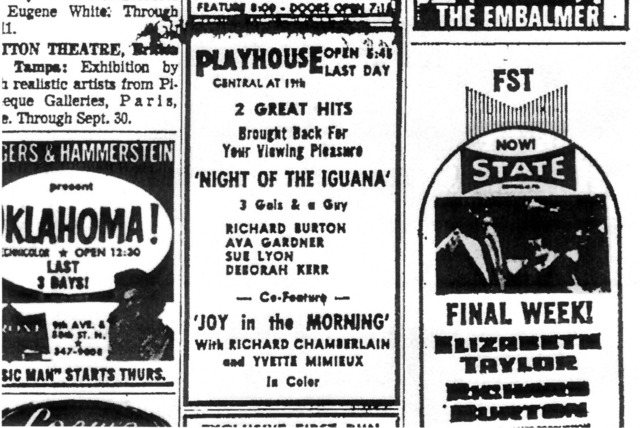 Playhouse Theatre Final Ad for Standard Films