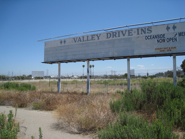 Valley Drive-In Marquee and 2 screens