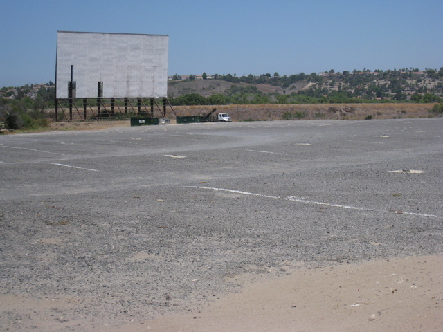 A screen at the valley drive-in
