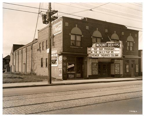 Mount Dennis Theatre Exterior View Late 1940s