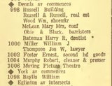First Discovered Listing for the first Moving Picture Theatre in Mount Dennis Toronto Directory 1922