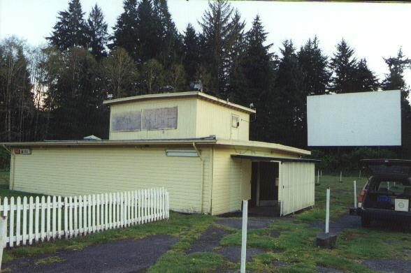 Snack bar and projection building along with main screen