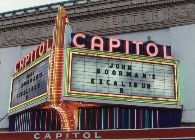 Theater marquee in 1981